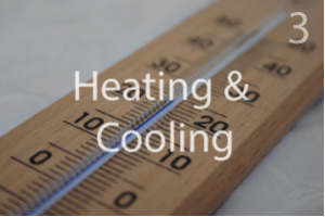 Van heating and cooling thermometer