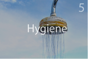 Hygiene - showering bathing