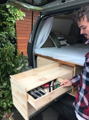 Van kitchen drawer