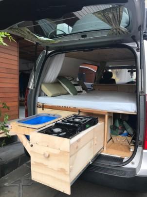 van kitchen stove