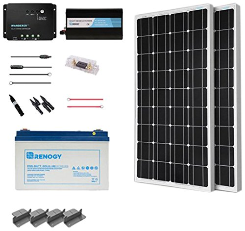 Renogy 200 Watts 12 Volt Complete Solar Panel Kit