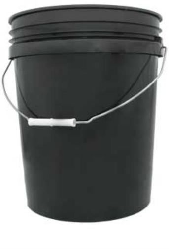 5-Gallon Black Bucket