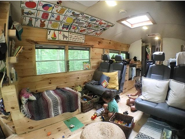 Bus living with kids