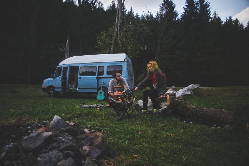 Europe Campfire van life