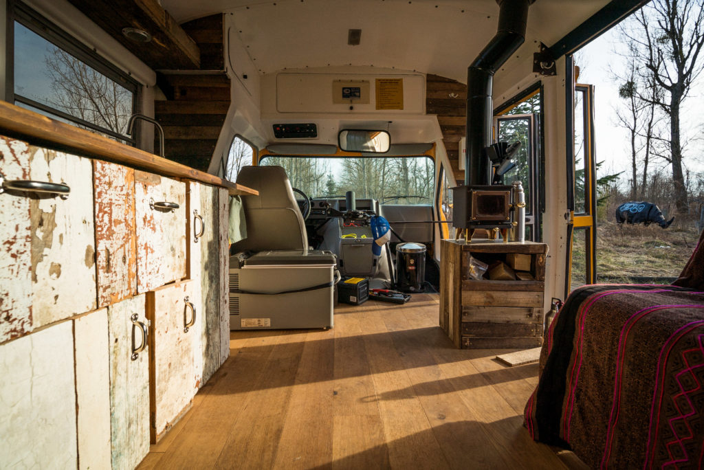 How To Easily Install A Wood Stove In A Camper Van