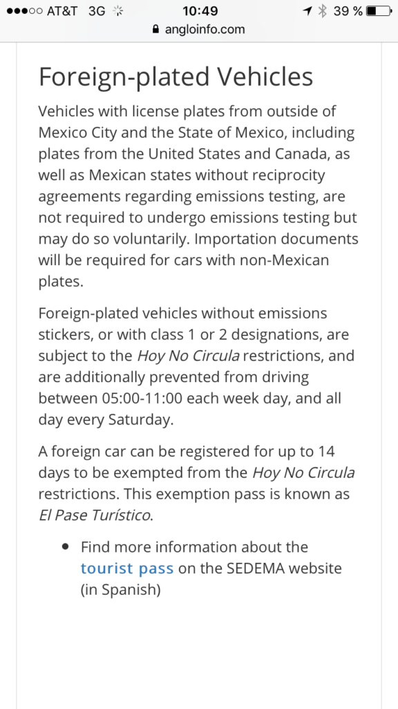 mexico licence plate laws