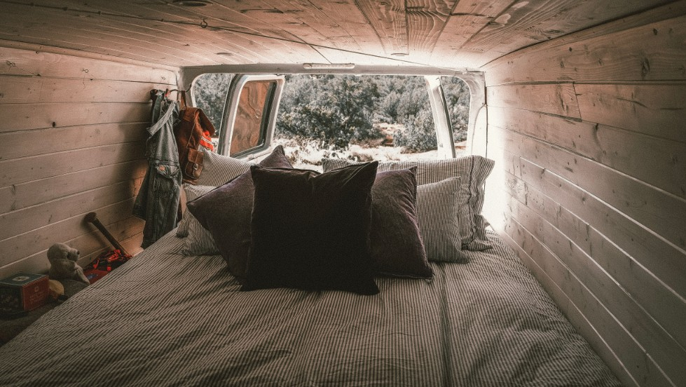 pull out bed in van