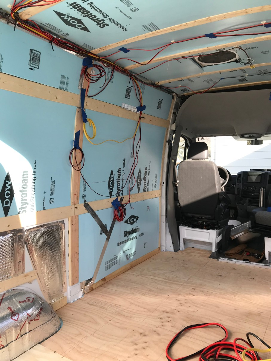 Camper Van Solar Panels Electrical System With Wiring Diagram You39re Done Running All The Simply Connect Them To Lights Wires Run