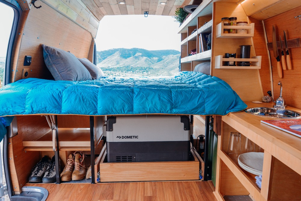 inspiration and advice from van conversion business owner aaron haack outbound living. Black Bedroom Furniture Sets. Home Design Ideas