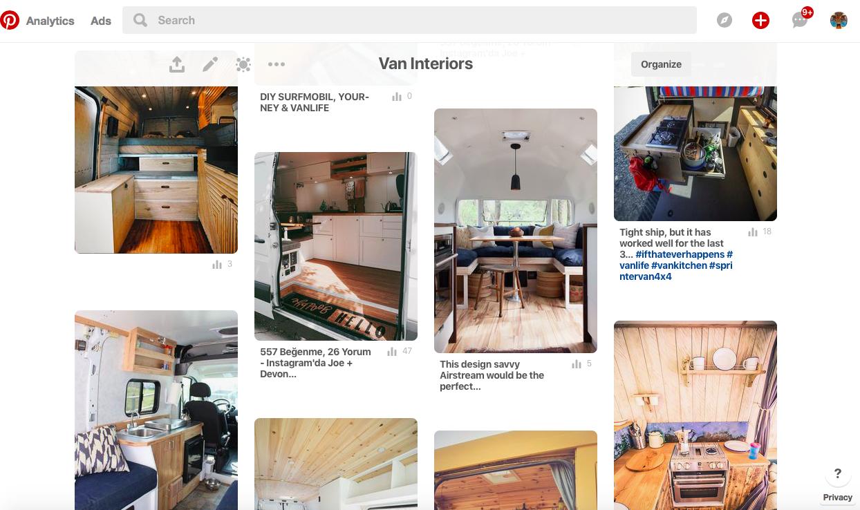 camper van diy layout ideas