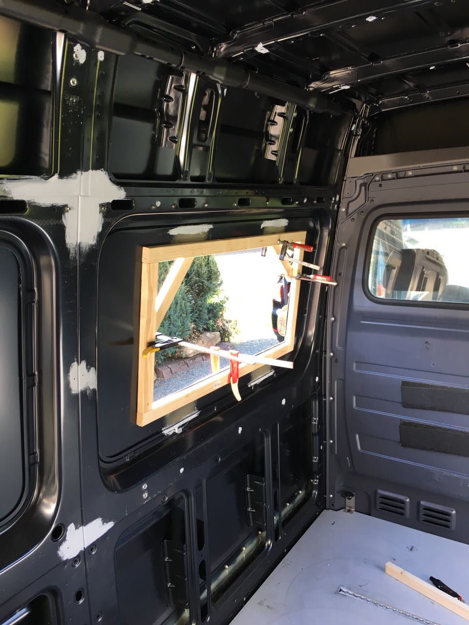 cargo van window installation