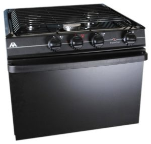 Atwood Mobile Products Black 17 inch Ups Oven Range 3 Burner