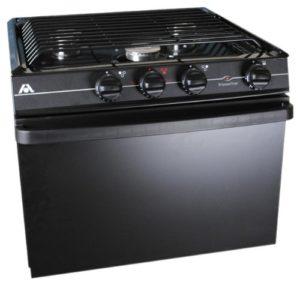 Atwood Mobile Products Black 17 inch Ups Oven Range 3 Burner