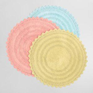 Round Cotton Bath Mat