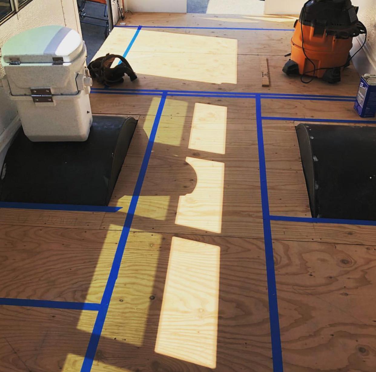bus conversion floor plan layout