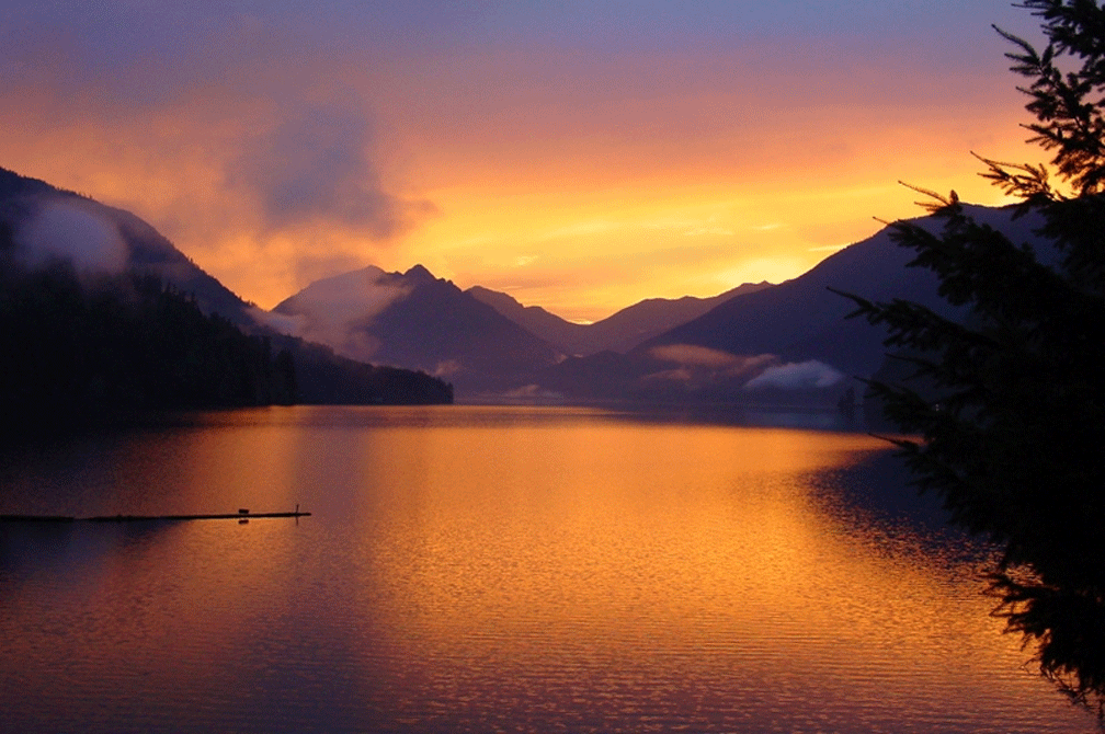 Lake Crescent Sunset