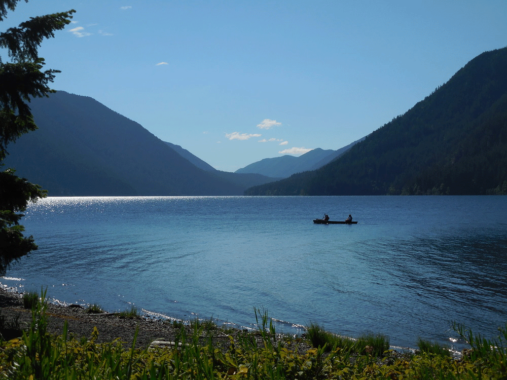 Canoe on Lake Crescent