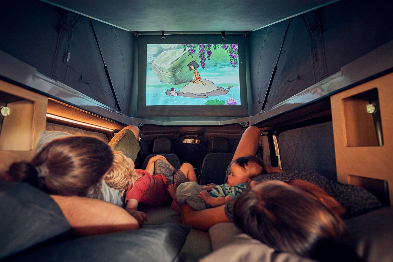 camper van cinema movie theater