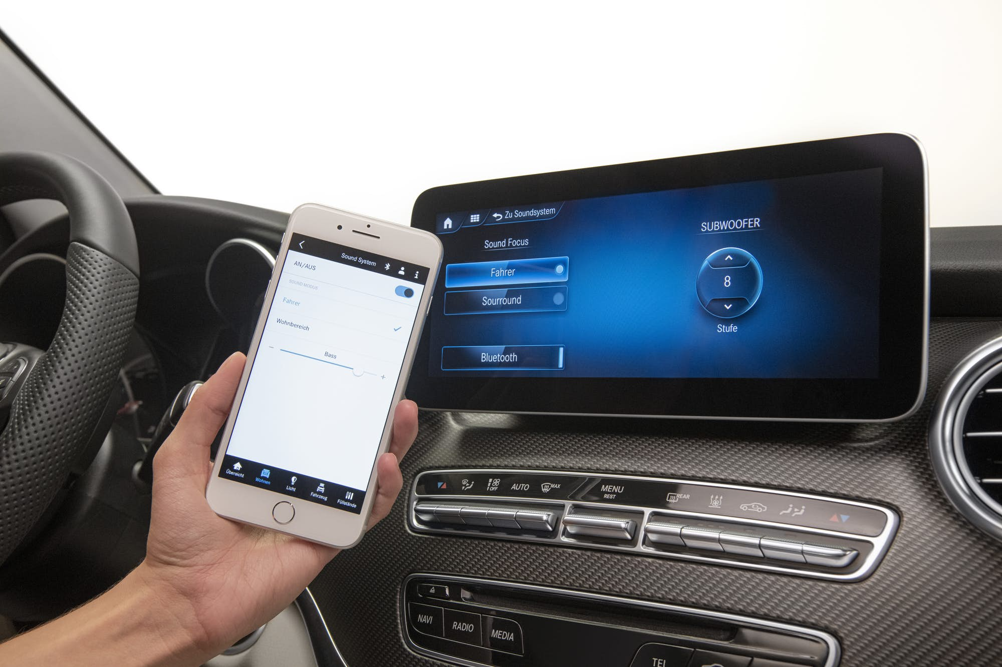 mercedes connected home tablet control