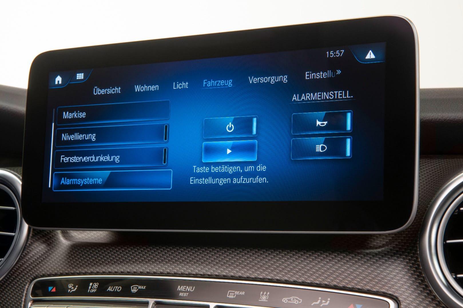 mercedes marco polo touchscreen controls