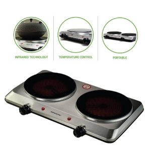 Ovente Countertop Infrared Double Burner