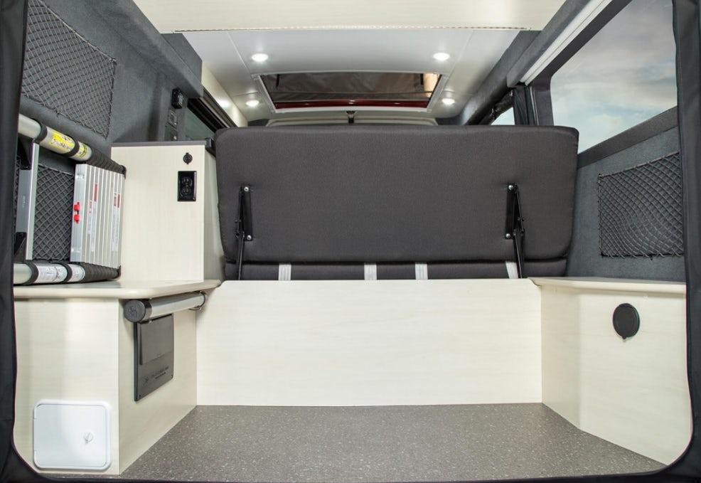 tofino van rear cargo area