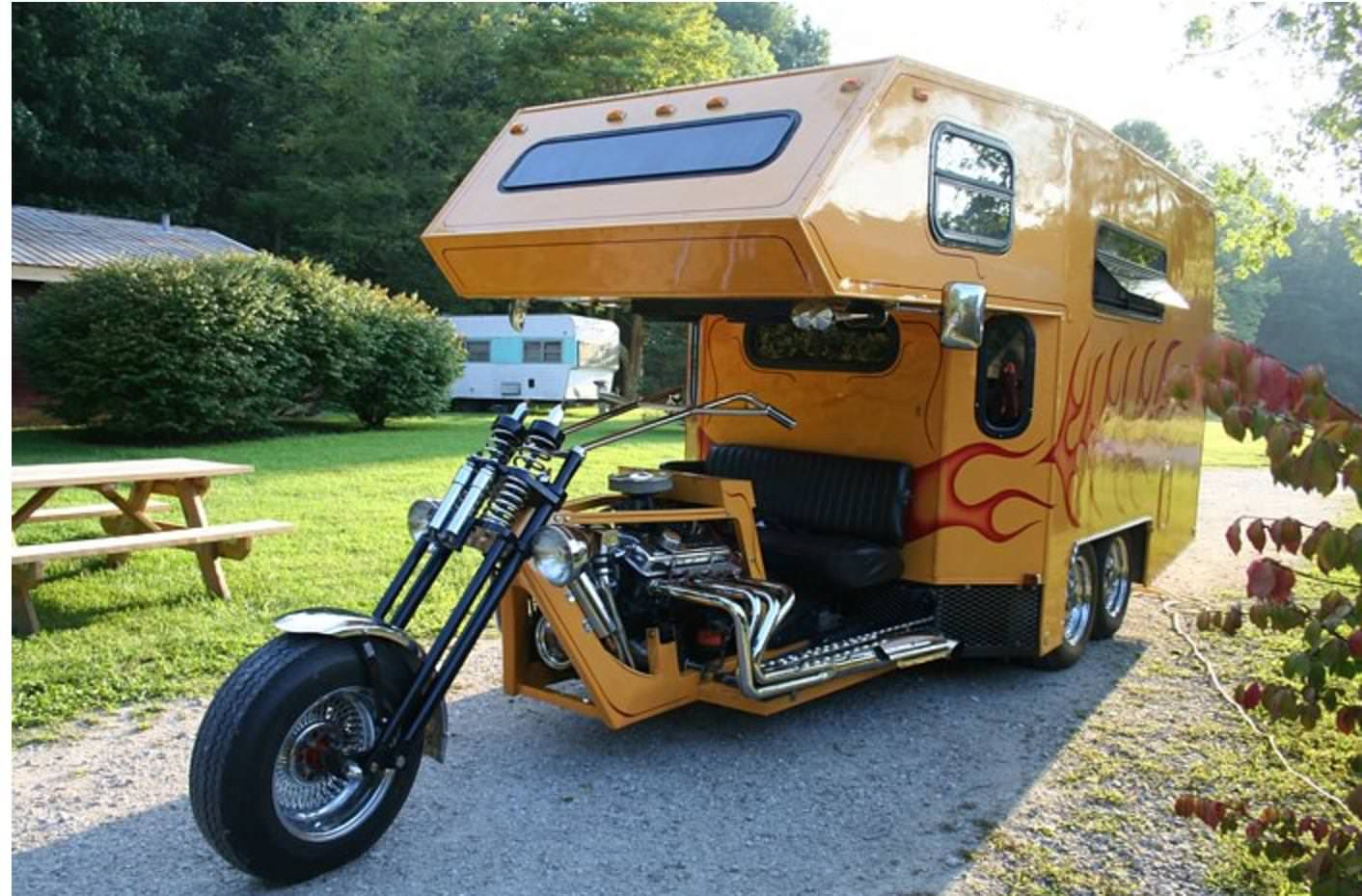 Motorcycle camper rv