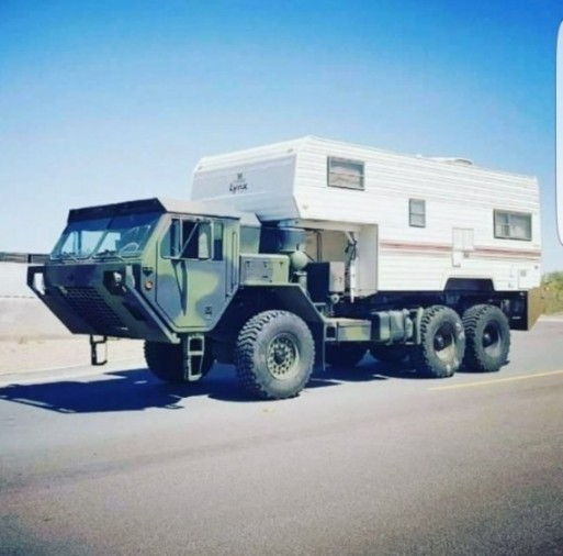 motorhome camo war tank vehicle 2