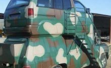 camo van stack on top of each other