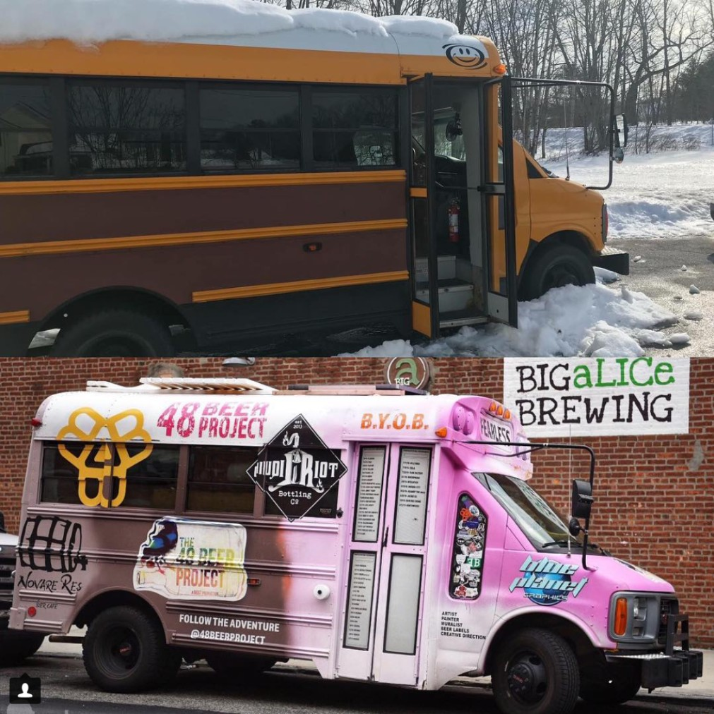 converted bus 48 beer project