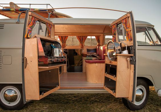 vw van side door kitchen