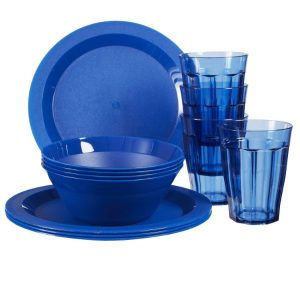 Plastic Plate and bowl set