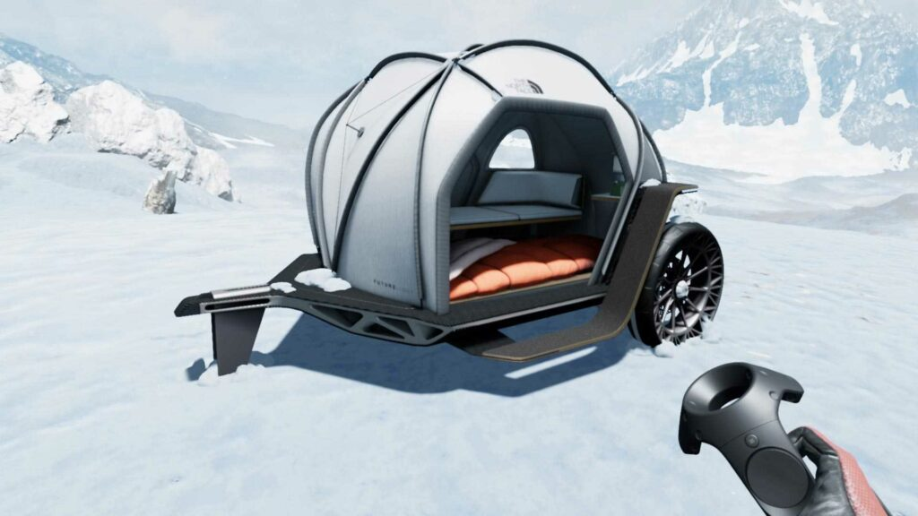 BMW and The North Face fabric camper trailer concept