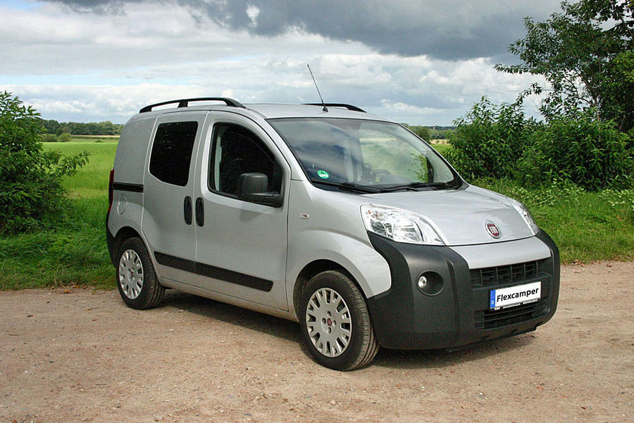 Flexcamper Fiat Fiorino-based single bed camper van