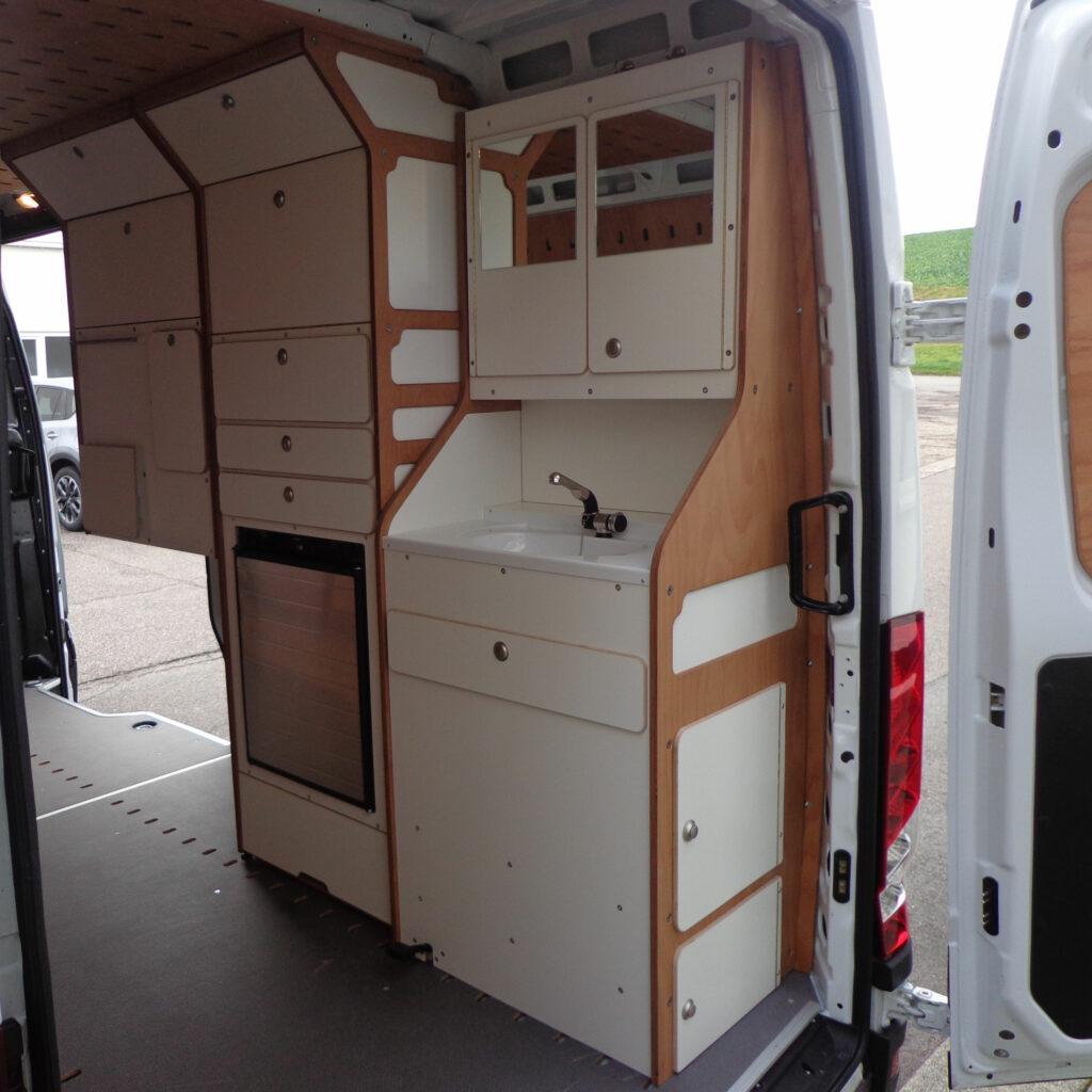 CargoClips camper van modular pegboard hauling system