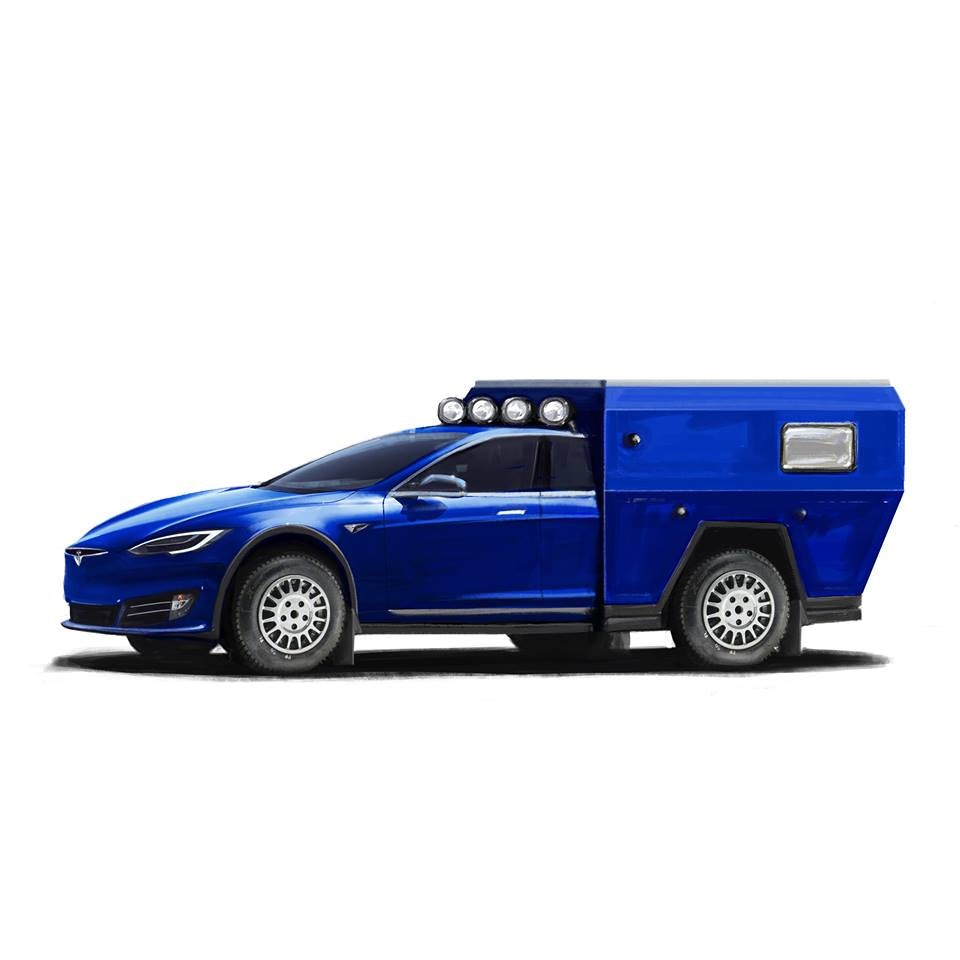 Tesla Model S Roamer Electric Camper