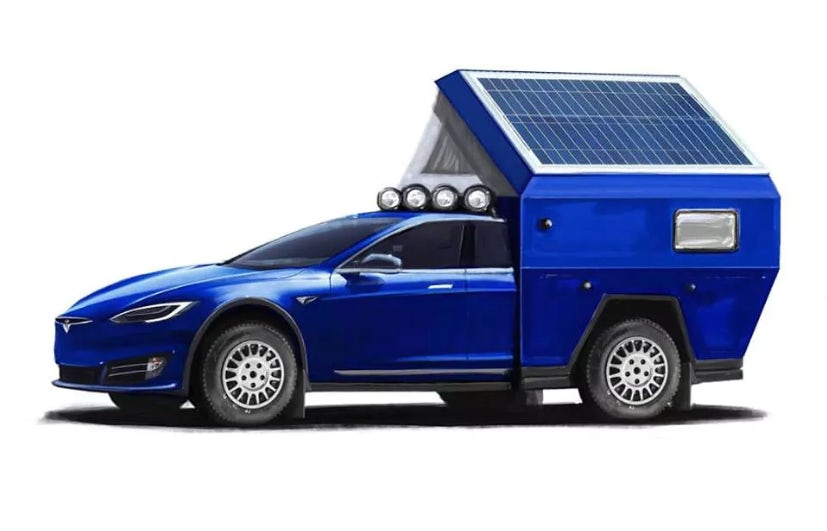 Tesla Model S Roamer electric camper van concept
