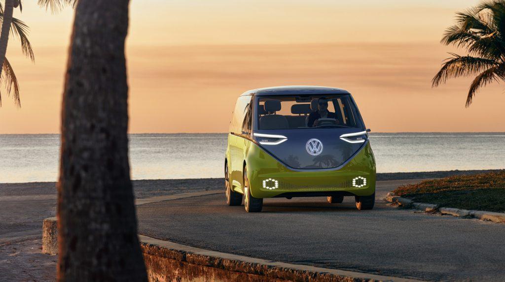 VolkswagenID Buzz electric self driving AR camper van