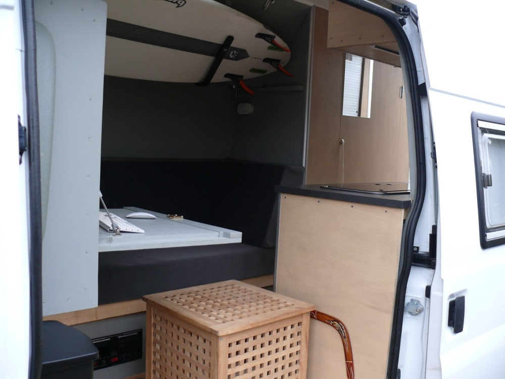 Ford Transit mobile office surf van conversion