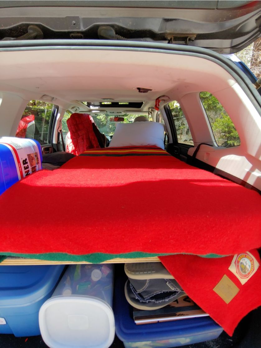 SUV Sleeping Platform Camper Conversion for Subaru Forester