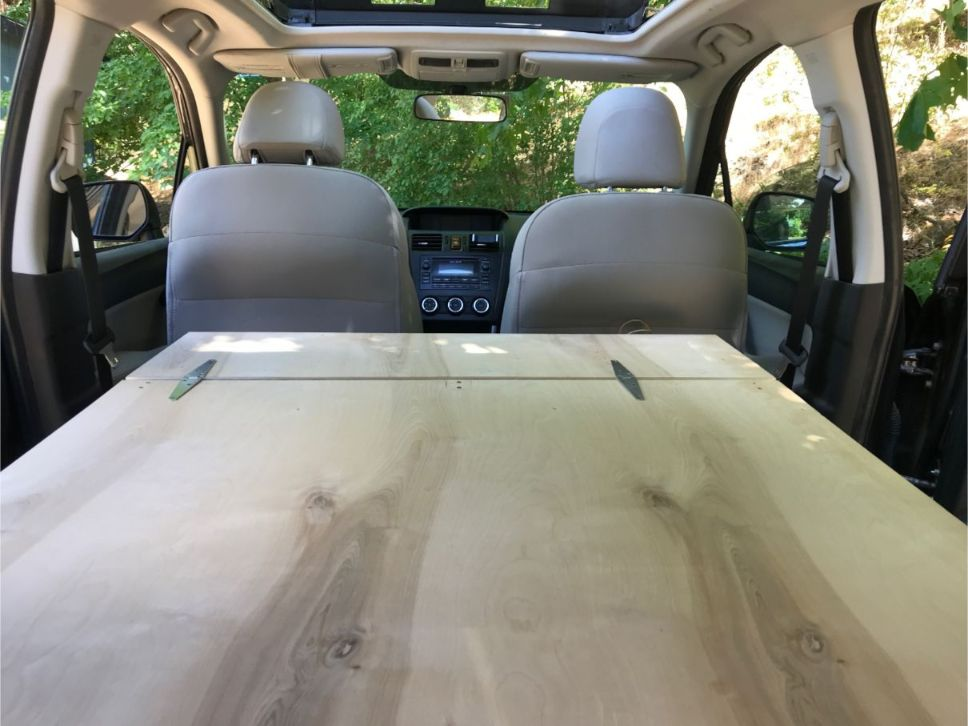 subaru forester sleeping platform