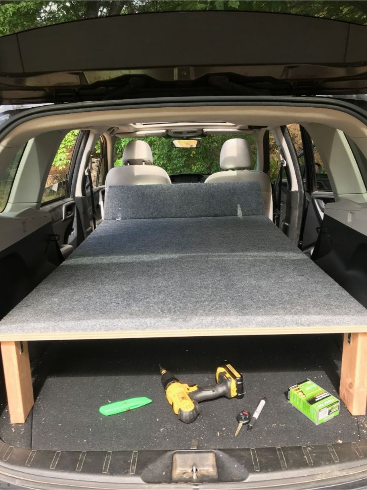 suv camper conversion bed