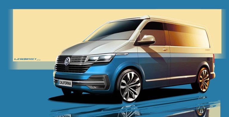Volkswagen California 6.1 facelift concept design sketch
