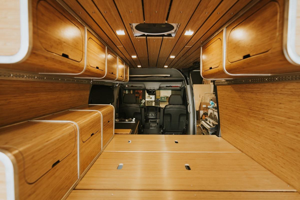 Zenvans bamboo DIY conversion kit for Merecedes Sprinter van