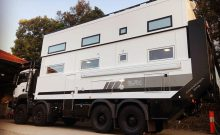 SLRV's Commander 8x8 MAN truck-based expedition vehicle for family of eight