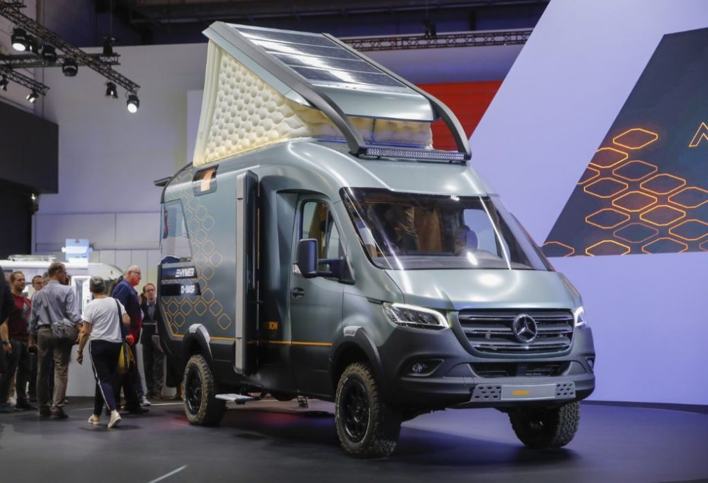 Hymer's Mercedes Sprinter based camper van the VisionVenture