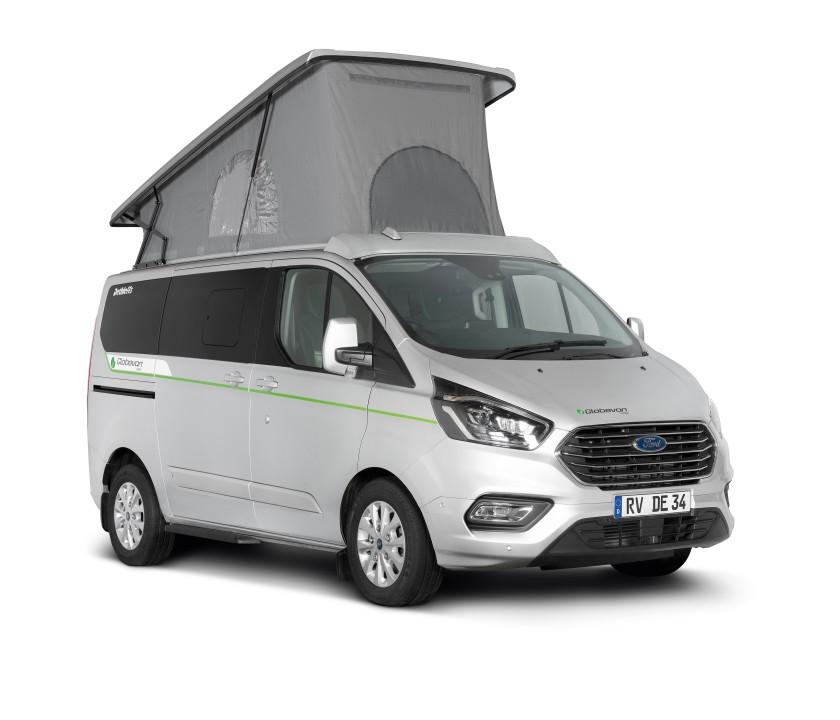 Green Hybrid Camper Van From Dethleffs Outbound Living