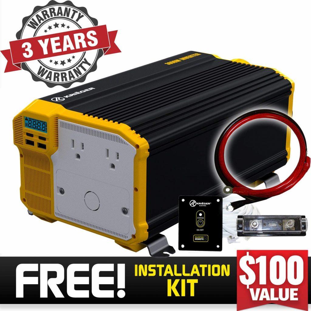 Krieger 3000W power inverter for best camper van invertersKreiger 1100W power inverter for best camper van inverters