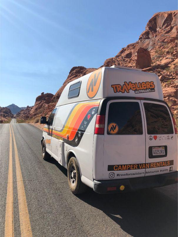 camper van in Valley of Fire State Park, UT