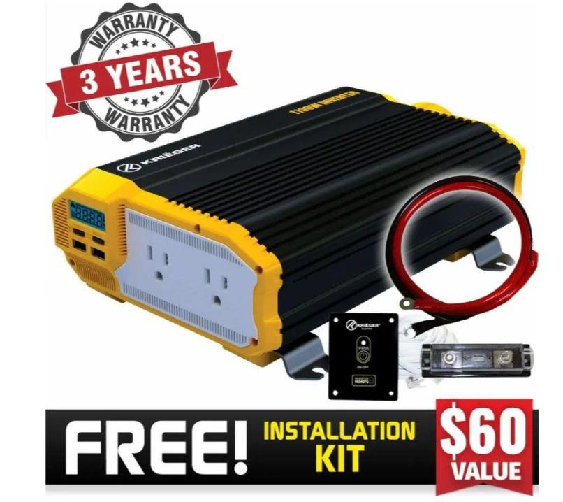Krieger 1100W power inverter for best camper van invertersKreiger 1100W power inverter